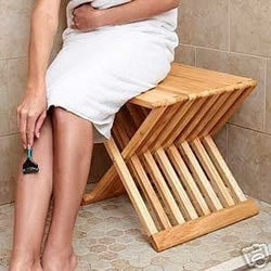 Teak Folding Shower stool