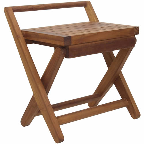 Modern Folding Teak Chair by Aquateak