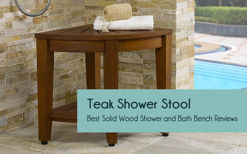 Teak shower benches and stools
