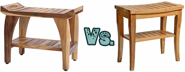 Teak vs Bamboo shower seat
