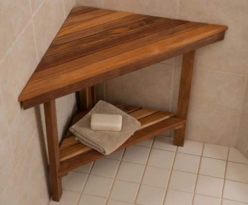 Shower foot stool for shaving