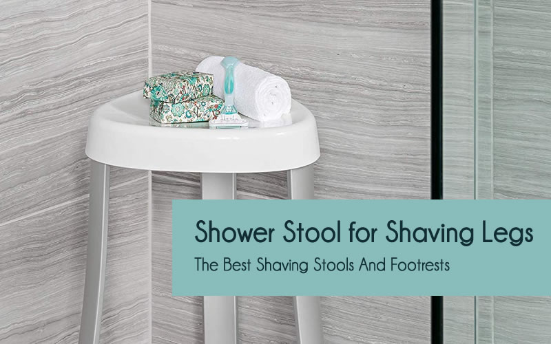 Shower stool for shaving