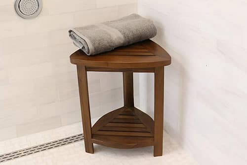 Small shower stool for shaving legs