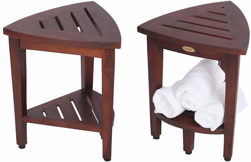 Small corner shower foot stool