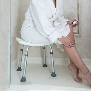 Shower stool for elderly