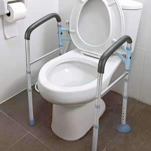 Toilet Safety Frame Rails