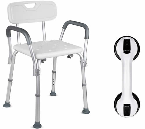 Dr. Maya Shower Chair with Back and Arms
