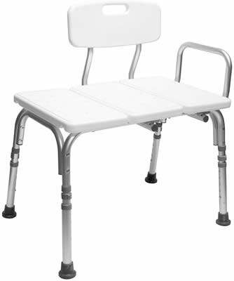 Extra wide shower chair with arms
