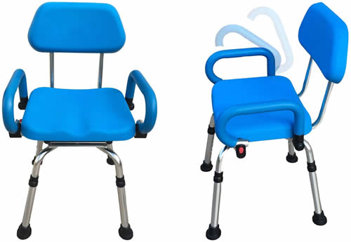 Platinum health swivel shower chair with arms