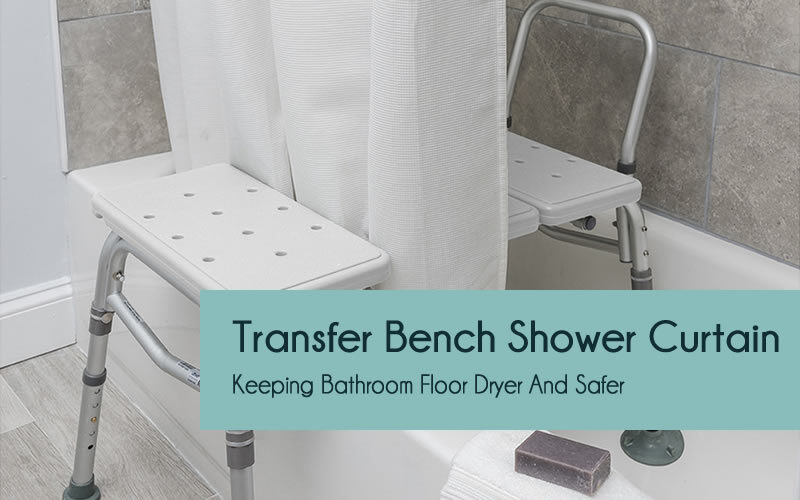 Shower curtain for transfer bench