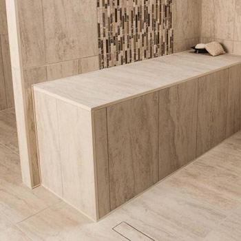 Shower bench size